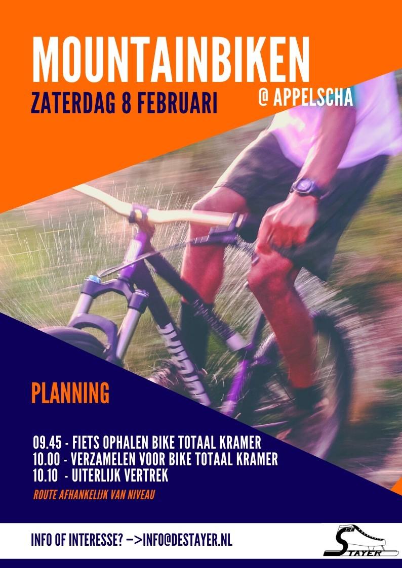 Mountainbiken zaterdag 8 februari 2020